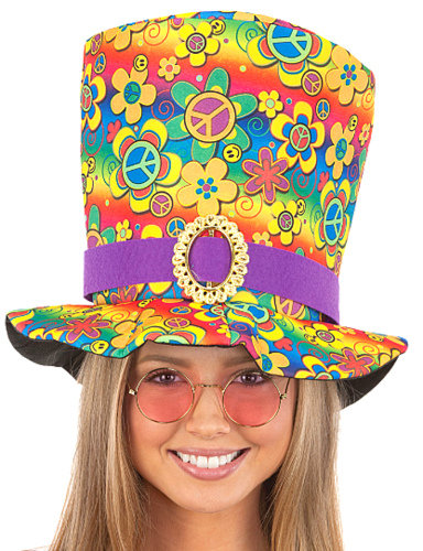 60's PEACE SIGN TALL HAT (Poly)