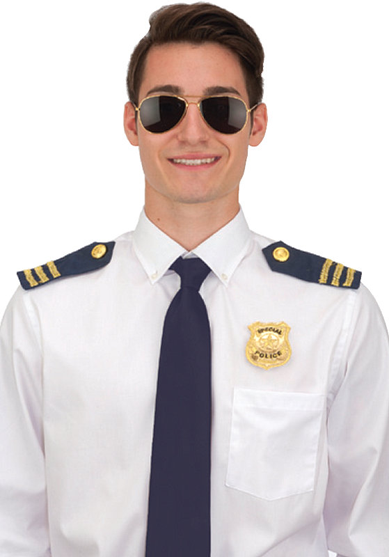 POLICE COSTUME SET (SUNGLASSES, EPAULETS & BADGE)