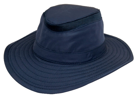 NAVY RIP-STOP NYLON SAFARI W/VENTED CROWN