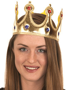 METALLIC JEWELED CROWN